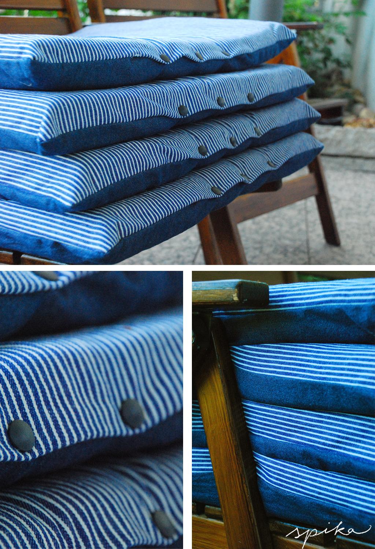 neue sitzkissen f r die gartenst hle spika design. Black Bedroom Furniture Sets. Home Design Ideas