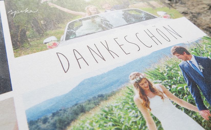 Hochzeitsdankeskarte Theresa & Axel