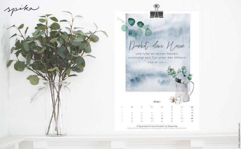 Freebie Kalender 2020 – Mai