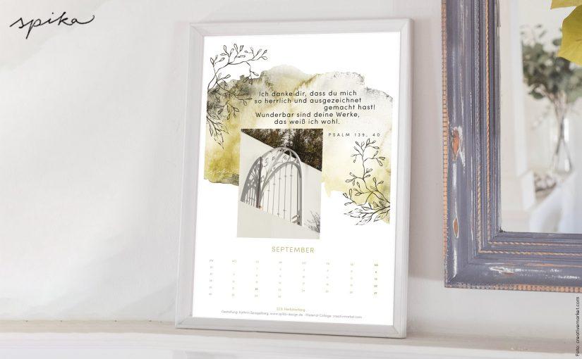 Freebie Kalender 2020 – September