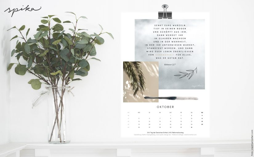 Freebie Kalender 2020 – Oktober