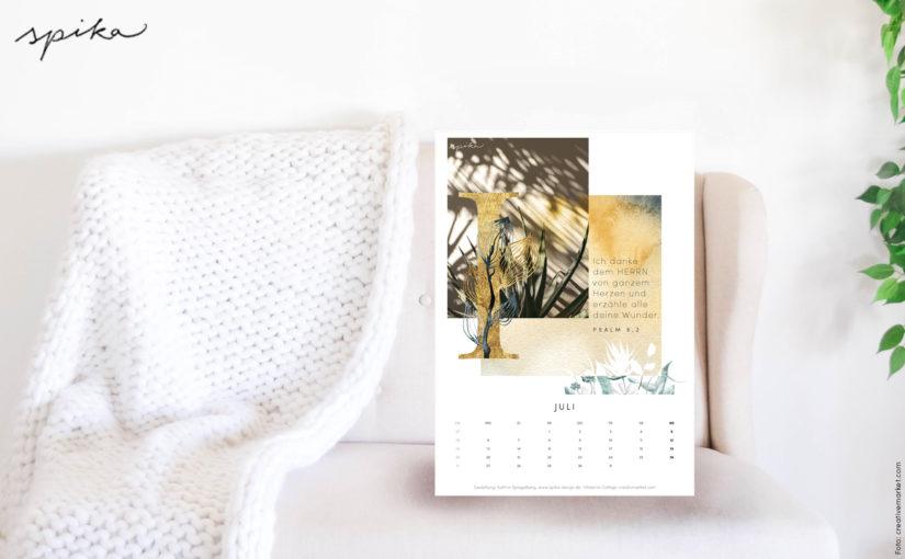 Freebie Kalender 2020 – Juli